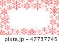 フレーム スノーフレーク 雪片のイラスト 47737745