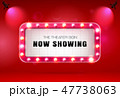 theater sign on curtain 47738063
