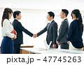 握手 ビジネス ビジネスマンの写真 47745263