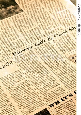 英字新聞、セピアカラー、セピアの写真素材 [47746027] - PIXTA