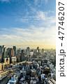 都市風景 大阪 眺望の写真 47746207