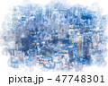 東京 夜景 都市のイラスト 47748301