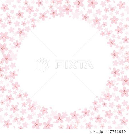 桜 背景 フレーム 素材 47751059