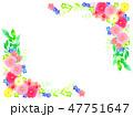 花 春 植物のイラスト 47751647