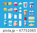 酪農 牛乳 商品のイラスト 47752065