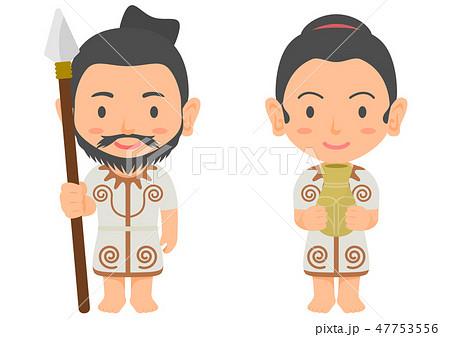 縄文時代の男性と女性 47753556