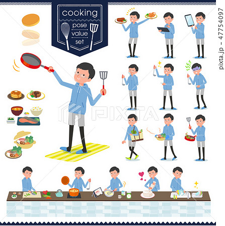 flat type dad Blue sportswear_cooking 47754097