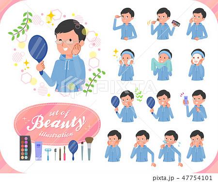 flat type dad Blue sportswear_beauty 47754101