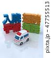 CG 3D イラスト 立体 デザイン 車 救急車 医療 病院 保険 入院 手術 退院 通院 47755513