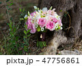 wedding bouquet of white and pink flowers 47756861