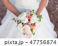 wedding bouquet, white peony and david austin 47756874