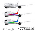 飛行機 旅客機 航空機のイラスト 47758810