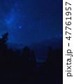 Milky way,star tracks upon forest.Starry night sky 47761957