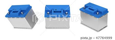 3D rendering. Car battery on white background. 47764999