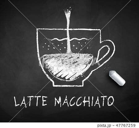 Vector black and white sketch of Latte Macchiato 47767259