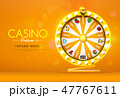 fortune wheel spinning  on bokeh background 47767611