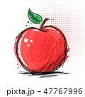 りんご アップル リンゴのイラスト 47767996