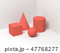 Abstract still life with simple shapes 3d 47768277
