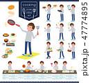 男性 料理 クッキングのイラスト 47774895