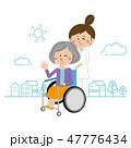 看護師 介護 女性のイラスト 47776434