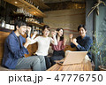 カフェ ノートパソコン スポーツ観戦の写真 47776750