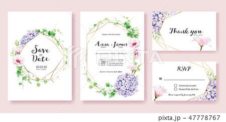 wedding invitation card 結婚式招待状. 47778767