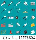 工事現場のアイコンセット 47778808