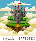 城 城郭 お城のイラスト 47780388