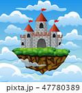 城 城郭 お城のイラスト 47780389