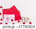 Valentines day and love concept. Red hearts  47780824