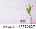 Womans day concept. Pink tulips  47780827