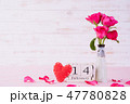 Valentines day, love concept. Pink roses in vase 47780828