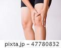 Runner sport knee injury or pain concept 47780832