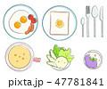 洋風朝食セット-カラー 47781841