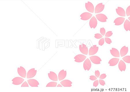 桜吹雪背景 ピンク透かし 47783471