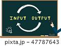 インプットとアウトプットの黒板イメージ 47787643