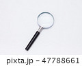 Magnifying glass Loupe on white backdrop 47788661