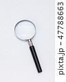 Magnifying glass Loupe on white backdrop 47788663