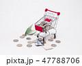 Shopping trolley bring money coins and korean bill 47788706