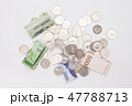 Stack of korean won and coins isolated 47788713