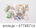 Stack of korean won and coins isolated 47788714