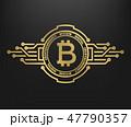 ビットコイン 金 黄金のイラスト 47790357