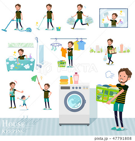 flat type Middle men sportswear_housekeeping 47791808