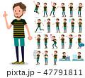 flat type Middle men sportswear_emotion 47791811