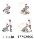 カフェ店員 声かけ 肢体障害者のイラスト 47792600