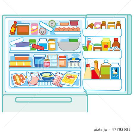 乱雑な冷蔵庫 47792985