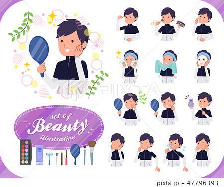 flat type man B&W sportswear_beauty 47796393