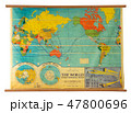 Vintage education color world map 47800696