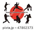 野球選手のシルエット1 47802373