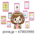 スマートフォン アプリ 47803990